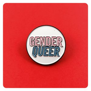 Gender Queer Non Binary Enamel Pin