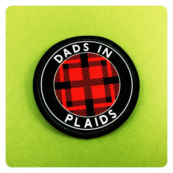 Dads in Plaids Lesbian Flannel RED Patch