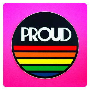 PROUD Rainbow Queer Sticker