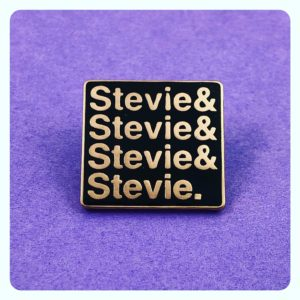 Stevie Nicks Queer Icon Tribute Enamel Pin