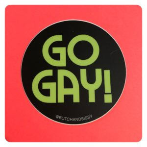 Go Gay Sticker